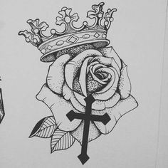 Religious Tattoos, Rosary Tattoos, Bracelet Tattoos, Key Tattoos, Heart Tattoos, Crown Tattoo Men, Crown Tattoo Design, Cross Tattoo For Men, Tattoo For Son
