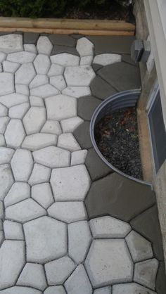 Introduction Many of you have wondered about the patio shown in the DIY Barrel Stove Outdoor Furnace pictures. In this topic, I will discuss how I built the patio using a concrete walkway maker for… Diy Concrete Patio, Flagstone Patio, Diy Patio, Patio Ideas, Backyard Ideas, Brick Patios, Pergola Ideas, Outdoor Ideas, Large Backyard Landscaping