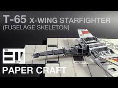 undefined X Wing, Starwars, Skeleton, Miniatures, Paper Crafts, Youtube, Diy, Bricolage, Star Wars