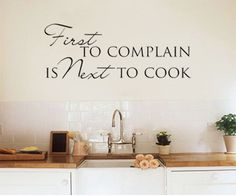 Wall art sticker decal kitchen dining room quote first by - Dining room wall art stickers ...