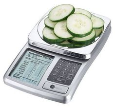 Kitrics Digital Nutrition Scale (Silver) -  Simply enter a food code from the provided list of 1999 common foods, and place the food item on the scale platform. The item will be weighted, and the nutritional facts for that portion displayed.