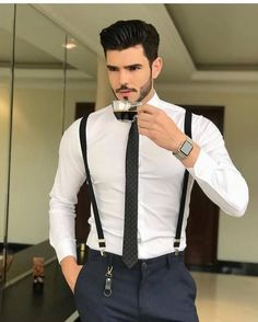 Well dressed men with suspenders Best Mens Fashion, Mens Fashion Suits, Men's Fashion, Fashion Ideas, Stylish Men, Men Casual, Mode Man, Formal Men Outfit, Mode Costume