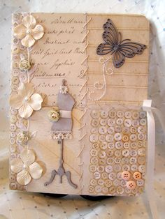 Shabby Chic Journal - Scrapbook.com. so pretty