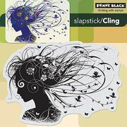 Add vibrant images to your art or craft projects quickly and easily with this set of Penny Black Slapstick Cling Rubber Stamps. Use these adorable rubber stamps on any acrylic block for handicraft pro
