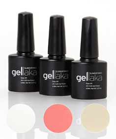 Another great find on #zulily! French Manicure Gel Polish Set #zulilyfinds
