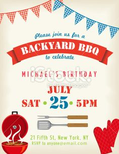 Bbq Invitation Template On A Chalkboard Base Royalty Free Stock
