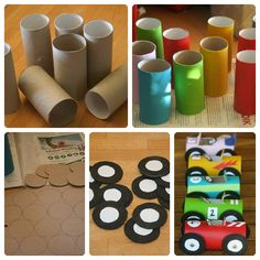 Easy Toddler Crafts using Toilet Paper Rolls - Kids Art & Craft Kids Crafts, Toddler Crafts, Diy And Crafts, Arts And Crafts, Paper Crafts, Craft Kids, Race Car Birthday, Cars Birthday Parties, Boy Birthday
