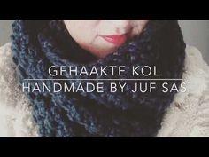 Vlog 2: Gehaakte kol met haaknaald 10 handmade by jufSas | Website en blog van juf Sas
