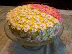 virágos torta (sajnos kevés lett a virág rajta)
