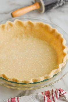 This Pie Crust Recipe is easy to make, but more importantly it tastes delicious. The combination of butter and shortening help the pie keep its shape without sacrificing any flavor.