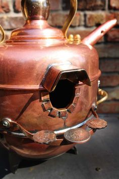 Birdhouse Bird house Upcycled Copper Teapot and by GadgetSponge, $165.00