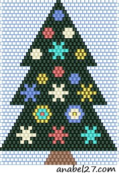 Sandra D Halpenny  Free Bead Patterns and Ideas  Christmas Tree