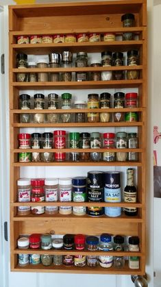 spice rack screwed to back of pantry door - Ana White