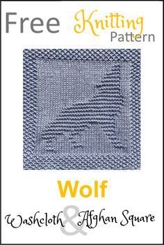 Free Wolf Dishcloth Or Afghan Square Knitting Pattern - Daisy ; linge à vaisselle ou motif de tricot carré afghan gratuit - marguerite Knitted Dishcloth Patterns Free, Knitted Washcloths, Knitted Afghans, Knit Dishcloth, Knitting Patterns Free, Free Knitting, Baby Knitting, Knit Blankets, Knitting Squares