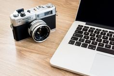 Notebook & Camera — PixaSquare | Free Hi-Res Stock Photos