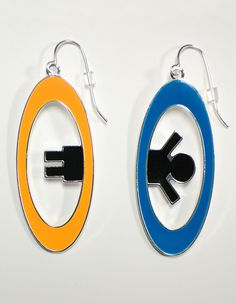 J!NX : Portal 2 Inter-Spatial Portal Earrings - Clothing Inspired by Video Games & Geek Culture