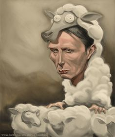 #carcoma #caricatural #hannibal_lecter #mad_mikkelsen