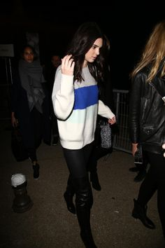 Kendall leaving the H&M show in Paris