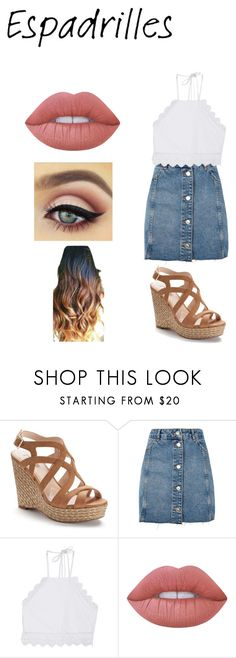 """summer outfit"" by caseyanne18 ❤ liked on Polyvore featuring Jennifer Lopez, Topshop, Front Row Shop and Lime Crime"