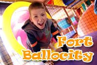 "TreePaad's ""Fort Ballocity"" is a three-story, interactive, soft foam ball play arena and indoor playground featuring thousands of foam balls."