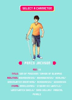 Heroes of Olympus Choose your character. Comment who you would choose. ( im getting Nico )