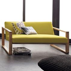 Tetra Lemongrass Loveseat In View All Furniture   Cb2