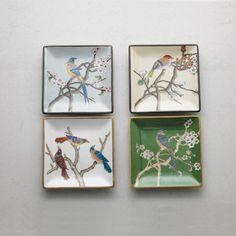 L'Oiseau Ceramic Plates - Set of 4 - White - CARLYLE AVENUE - 3