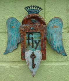 """Love Has Wings"" #decoartprojects #mixedmedia #decoartmedia"