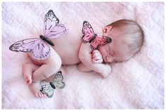 newborn photo...using all butterflies from sprinkle