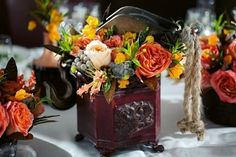 20 Creative Steampunk Wedding Centerpieces | HappyWedd.com