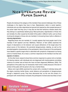 Nice literature review paper sample