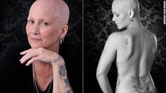 Breast Cancer photographer makes women feel beautiful...This is on CNN Health, it is named after a friend of mines mother and aunt.  The photographer takes picture of women with cancer and are losing their hair and going through treatment to uplift them and make them feel beautiful!!