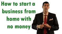 How to start a business and work from home with no money - NemanjaAdamov...