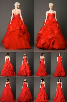 The Red Wedding Dress. #weddings #red #dress