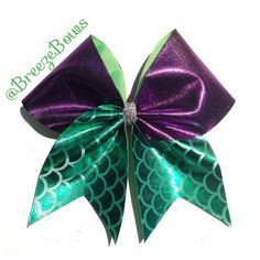 Little Mermaid Cheer Bow by BreezeBows on Etsy, $10.00