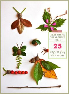 For my lil nature boy! Play Themes to explore over several days and weeks with the kids - #1: Nature.