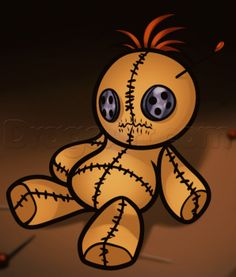 How to Draw a Voodoo Doll, Step by Step, Witches, Monsters, FREE Online Drawing Tutorial, Added by Dawn, August 22, 2013, 8:33:36 pm