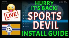 SPORTS DEVIL IS BACK! HURRY INSTALL NOW - KODI 17.6 AMAZON FIRE TV STICK 2017 https://youtu.be/72t0zAOrr_I  Hi, Welcome to The Madd Mentor. In this tutorial I'll show you how to install the latest working SportsDevil Addon for Kodi Krypton.  THIS IS WORKING 100% SportsDevil addon for Kodi allows you to watch a big selection of Live Sports Events including Live Tv, American Football, Baseball, Basketball, Boxing, Football and more... Straight forward and easy to follow so I hope you enjoy!