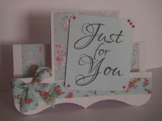 Just for you stamp by Woodware Stamps and ribbon by Www.trulyinspiredcrafts.co.uk