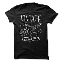 Vintage 1972 a Great Year #teeshirt #clothing