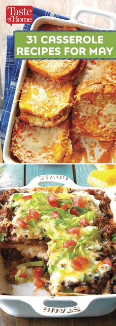 31 Casserole Recipes for May