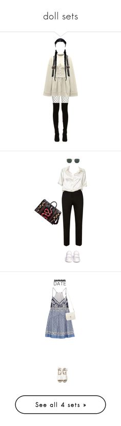 """""""doll sets"""" by ffashioninspire ❤ liked on Polyvore featuring Puma, Jimmy Choo, Nasty Gal, grunge, PUMAstyle, corsets, Brandy Melville, Alexander McQueen, Gucci and Linda Farrow"""
