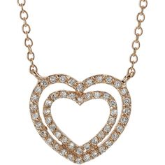 Rose Gold Sterling Silver Heart Pendant CZ Zirconia Womens Fashion Necklace Gift #RoseGoldLovers #Pendant