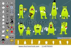 Character design kit. Create your own characters. Hundreds of variations. by nogimmick, via ShutterStock