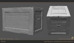 ArtStation - The Order: 1886 Art, Juan Hinojosa Crate Cover, Game Props, Environmental Art, Zbrush, Game Art, Crates, Sculpting, Locker Storage, Artwork