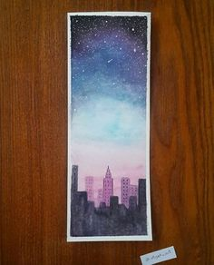 Painting Sky Stars Night 64 Trendy Ideas - All About Gardens Galaxy Painting, Galaxy Art, Watercolor City, Watercolor Paintings, Watercolour Pencil Art, Watercolor Night Sky, Watercolor Ideas, Painting Inspiration, Art Inspo