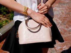 Louis Vuitton vernis alma bb in Rose Angelique