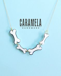 bones Necklace by CaramelaHandmade on Etsy