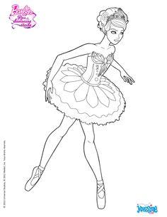 Coloriage Barbie : KRISTYN à colorier www.hellokid.com