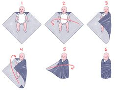 How to Swaddle a Baby the Right Way (Photos & Videos) – Baby Care Tips Baby Poster, Newborn Baby Tips, Baby Baby, Newborn Care, Caring For A Newborn, Baby Girls, Baby Life Hacks, Baby Silhouette, Baby Care Tips
